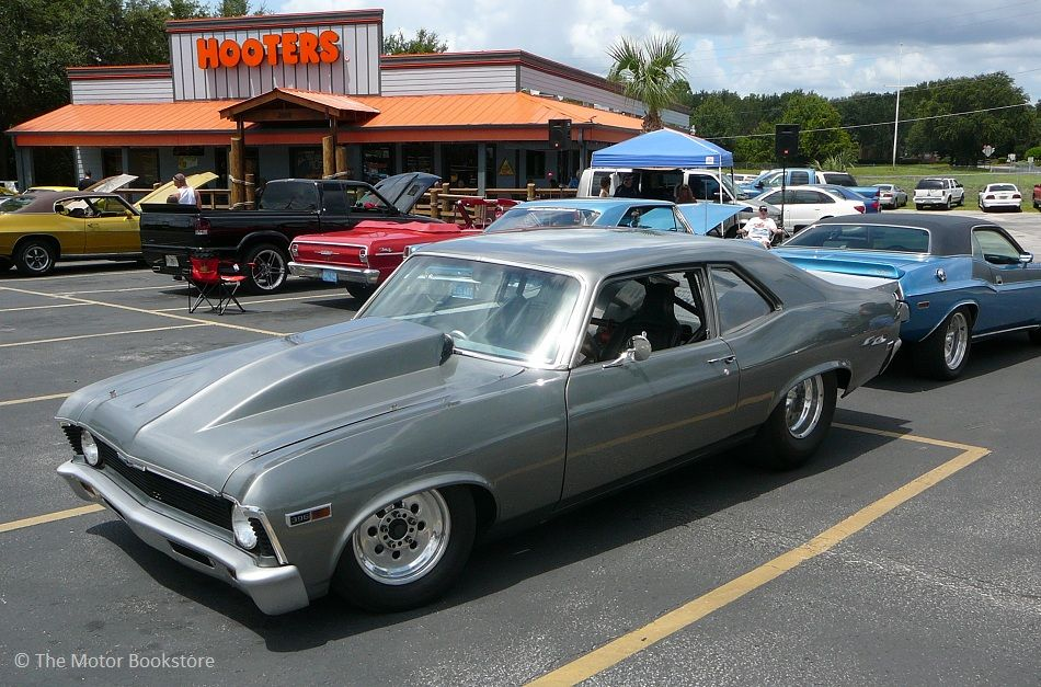 Chevy Nova Drag Car Front Left Side View Hooters Hot Rods