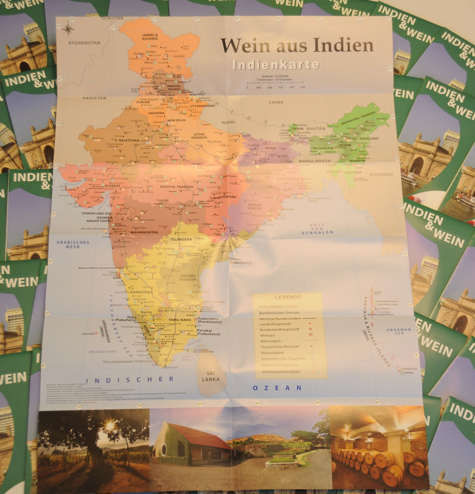 Wein aus Indien - Indienkarte