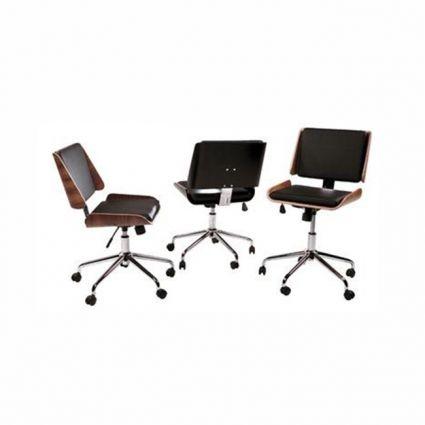 Retro irodai szék fekete bőr – ID Design Életterek Home