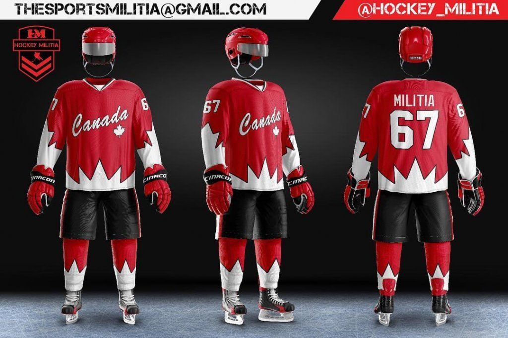 We Love How Hockey Militiaused Our Hockey Uniform Template To Create This Design Hockeydesign Hockeyjersey Hockeyed Hockey Uniforms Hockey Sports Templates