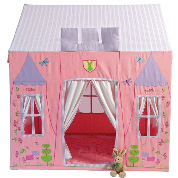 This beautiful Princess Castle Playhouse Tent offers a luxury style for little girls but still has : little girls tents - memphite.com
