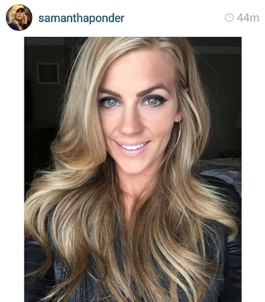 Samantha Ponder Pretty Hair Color She Is A Sportscaster Formerly