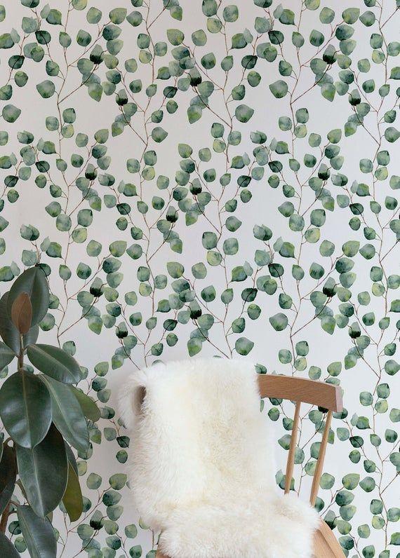 Remove Wallpaper Removable Wallpaper Temporary Wallpaper Eucalyptus Peel And Stick Wallpaper Temporary Wallpaper Custom Design A126 Temporary Wallpaper Removable Wallpaper Peel And Stick Wallpaper