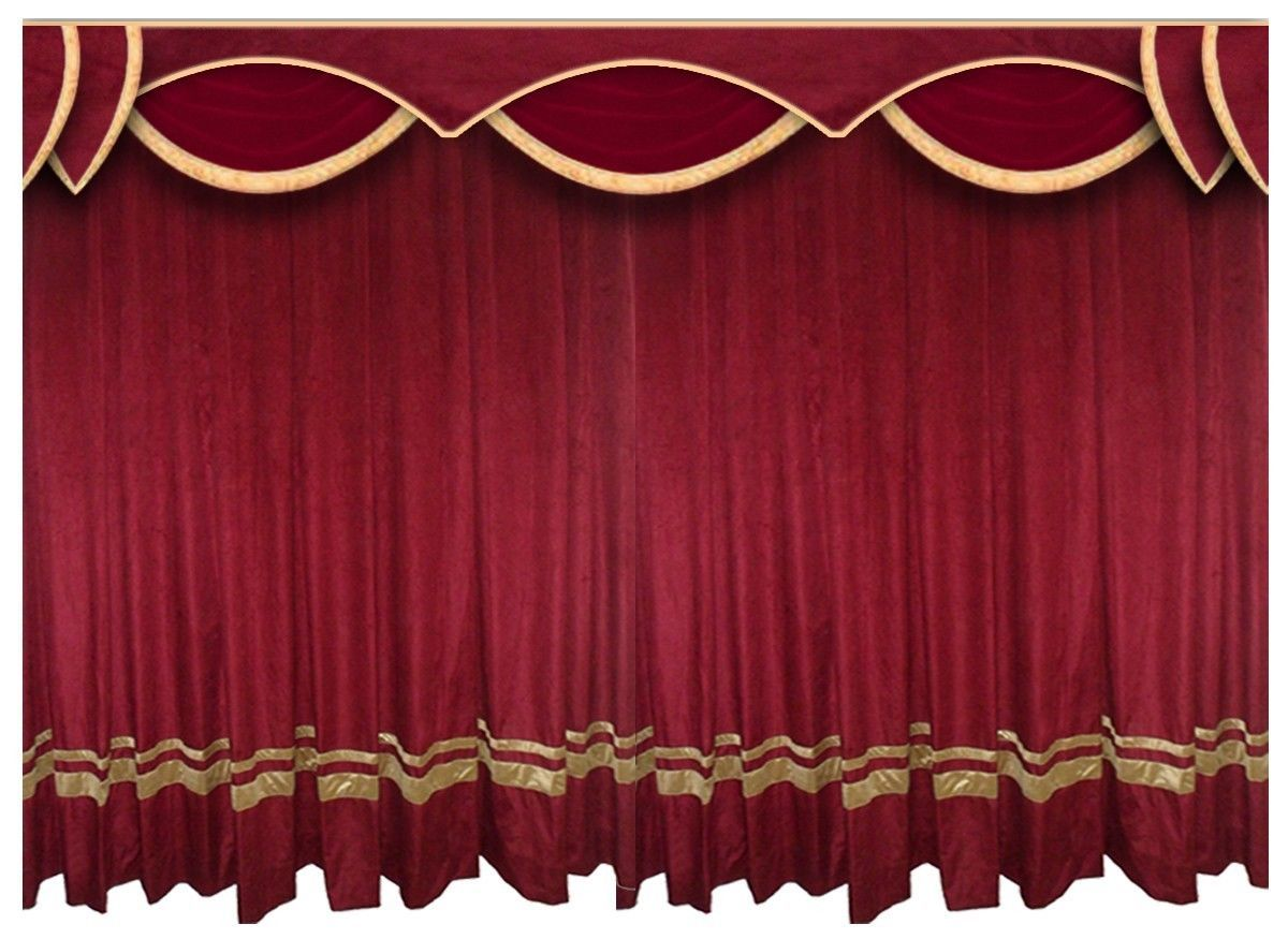 Saaria Velvet Velour Curtain School Church Stage Events For Backdrop 12w X 8H