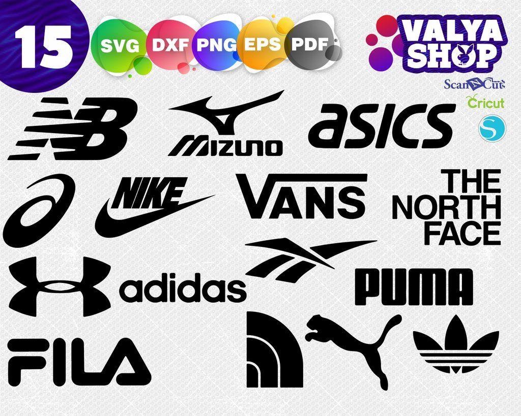 Sport brands logos svg, Vans Svg, Fila logo svg, Nike