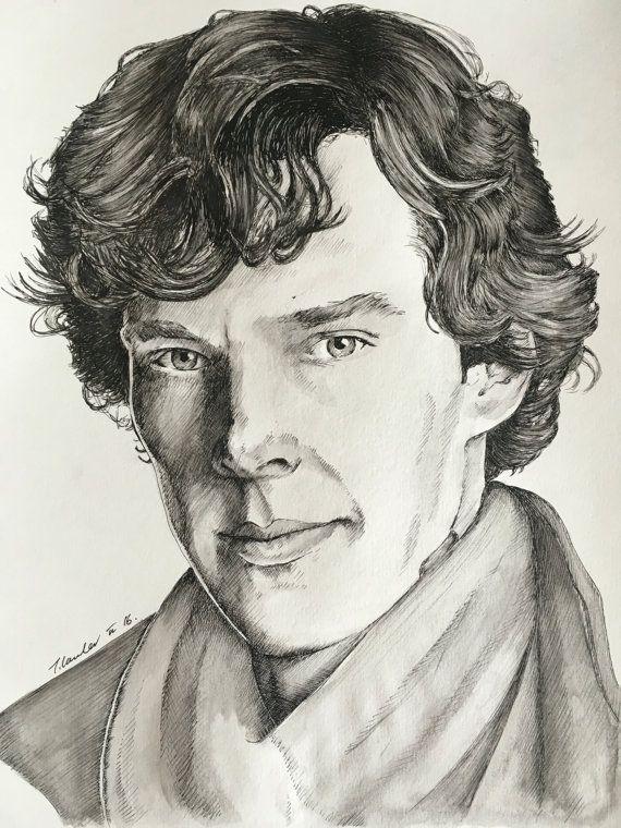 Шерлок картинки карандашом