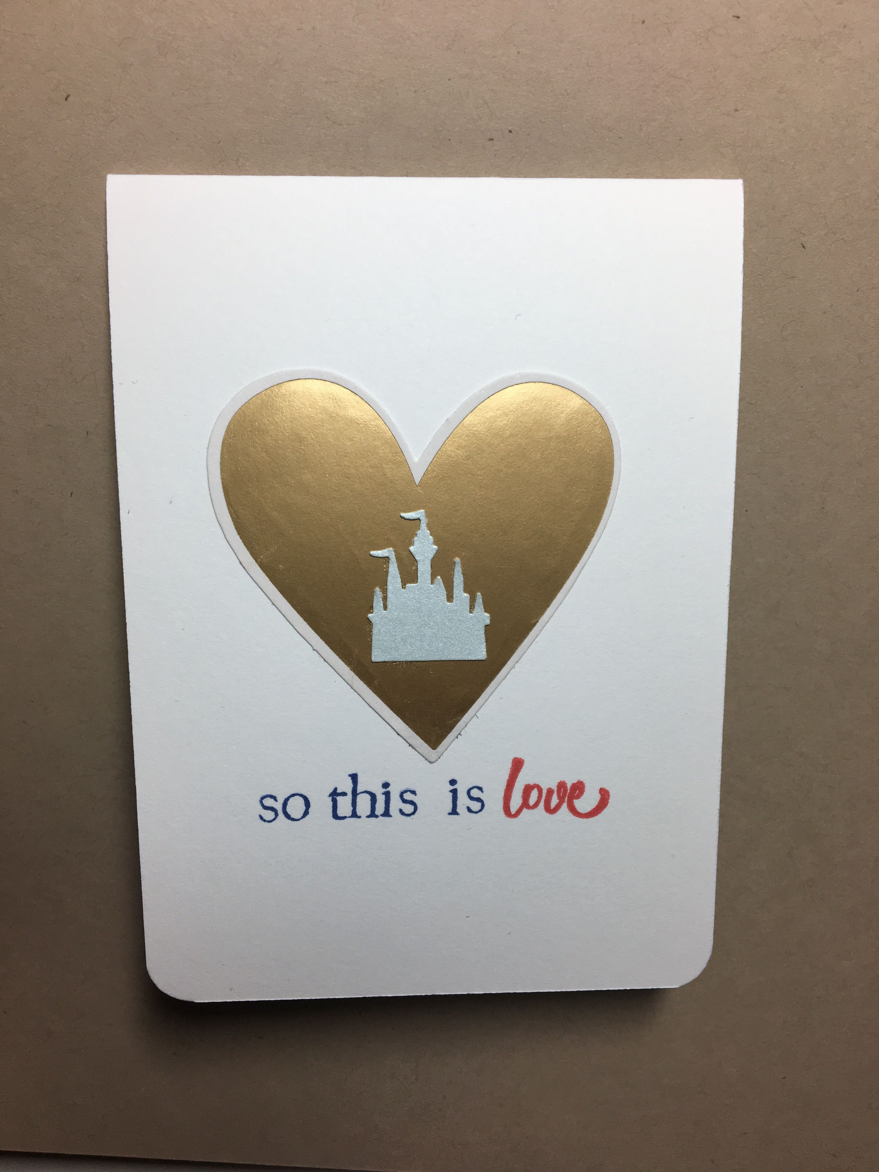 Disney Themed Anniversary Or Wedding Card Madebyejp2019 Cards Cards Handmade Wedding Cards