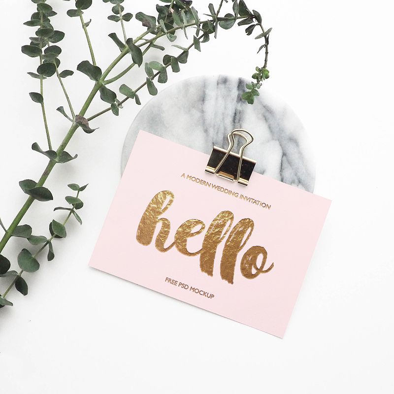 Greeting Card Mockup | Mock up and Business cards
