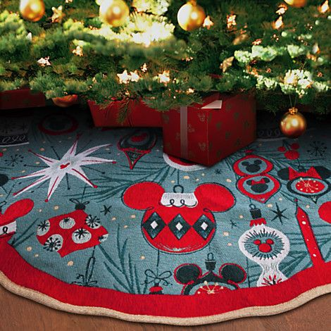 Mickey And Minnie Mouse Holiday Tree Skirt From Disney Store