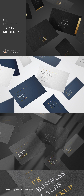 Flying Uk Business Cards Mockup For Branding Designs Business Card Mock Up Branding Design Business Card Size