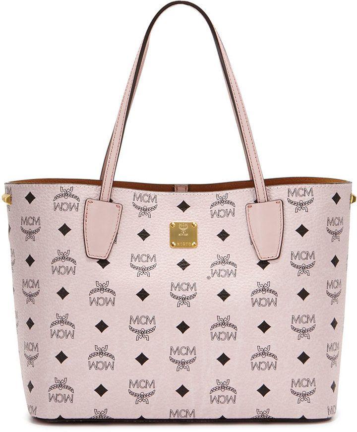 MCM Shopper Project Visetos Shopper Bag, Chalk Pink