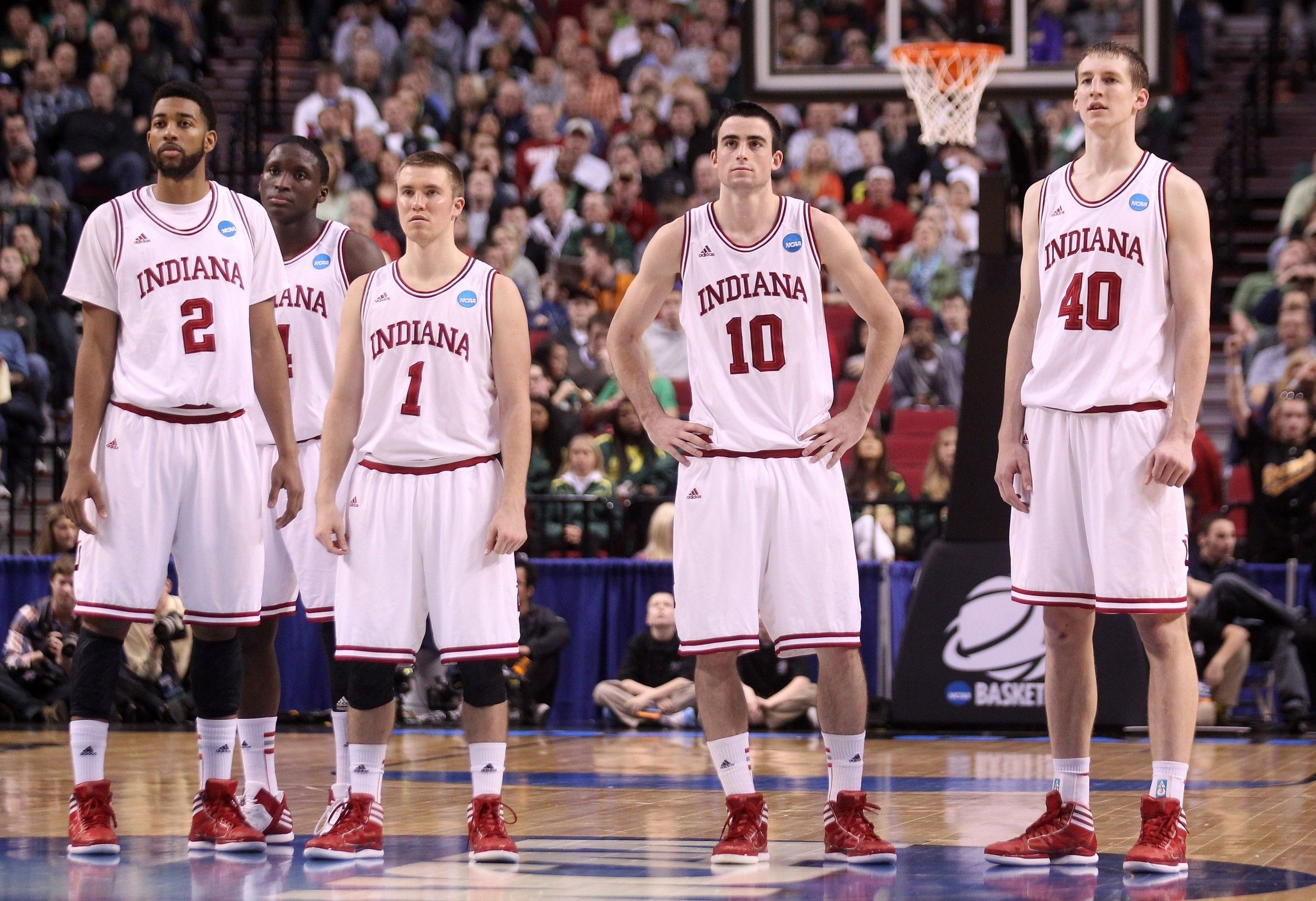 indiana university mens basketball team pictures hoosier