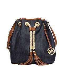 Marina Large Denim Shoulder Bag by Michael Kors  af2f0263d5b