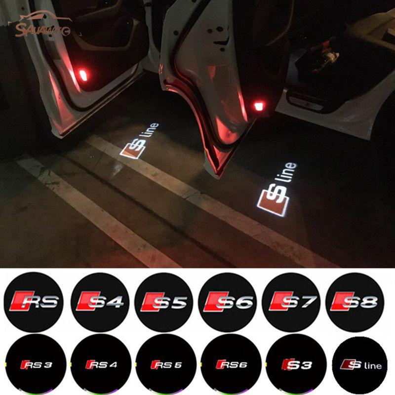 2pcs Lot No Drilling Car Led Ghost Laser Logo Projector Door