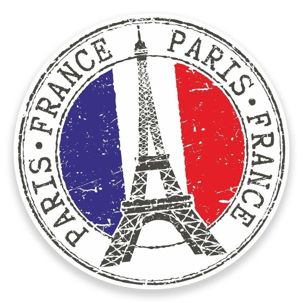 2 x France Vinyl Sticker Decal Luggage Travel Tag Gift Ski Snowboard Gift #4585