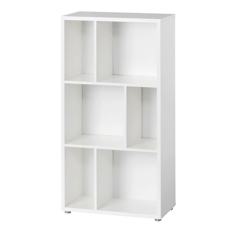 Furniture To Go Maze Bookcase with 2 Shelves in White Furniture To Go Maze Bookcase with 2 Shelves in White