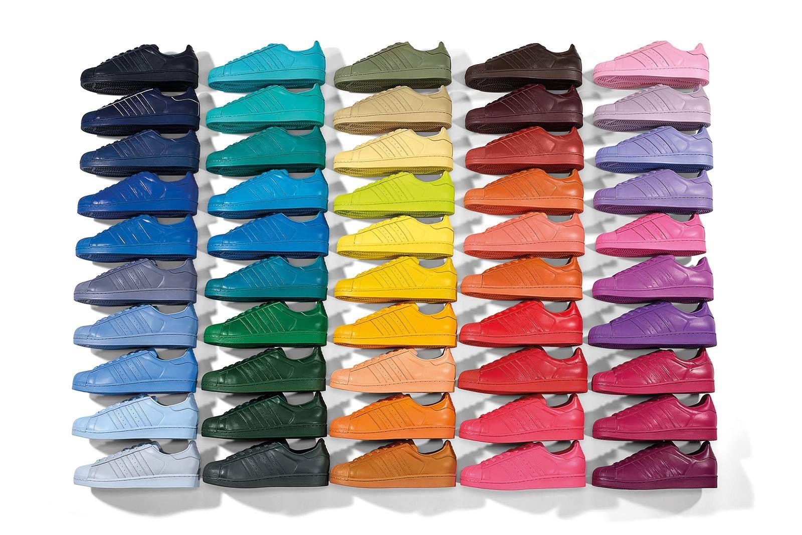 pick up 95595 40264 adidas Originals Superstar Supercolor 50 Colors by Pharrell Williams