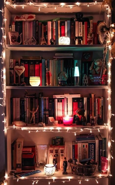 Very Cute Shelves Withthese Tiny Lights I Luvvv It