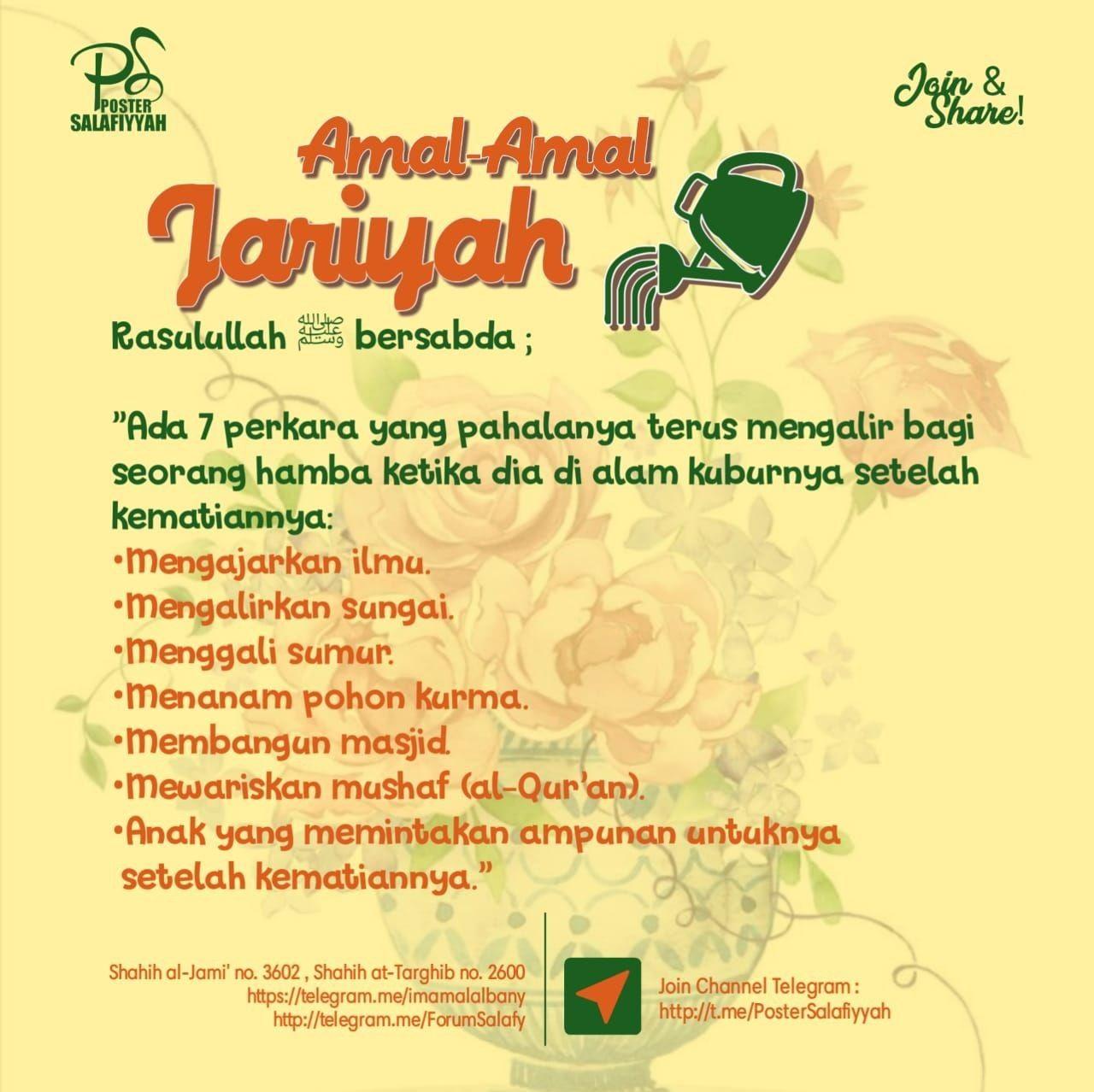 Amalan Jariyah Belajar Quran Poster