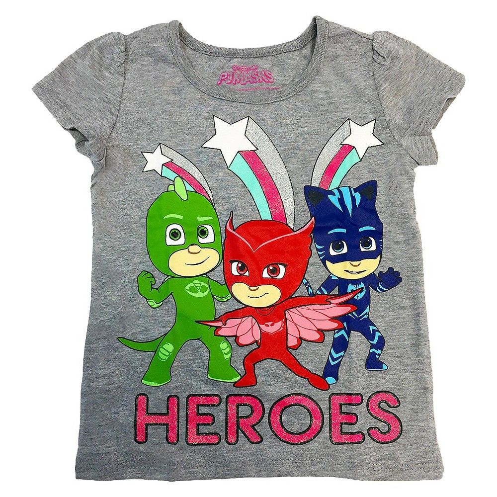 0cfbc0515c14 PJ Masks Toddler Heroes Short Sleeve T-Shirt 3T - Gray