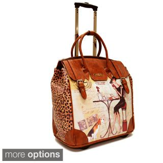 Nicole Lee Special Print Rolling 16-inch Laptop Travel Bag by ...