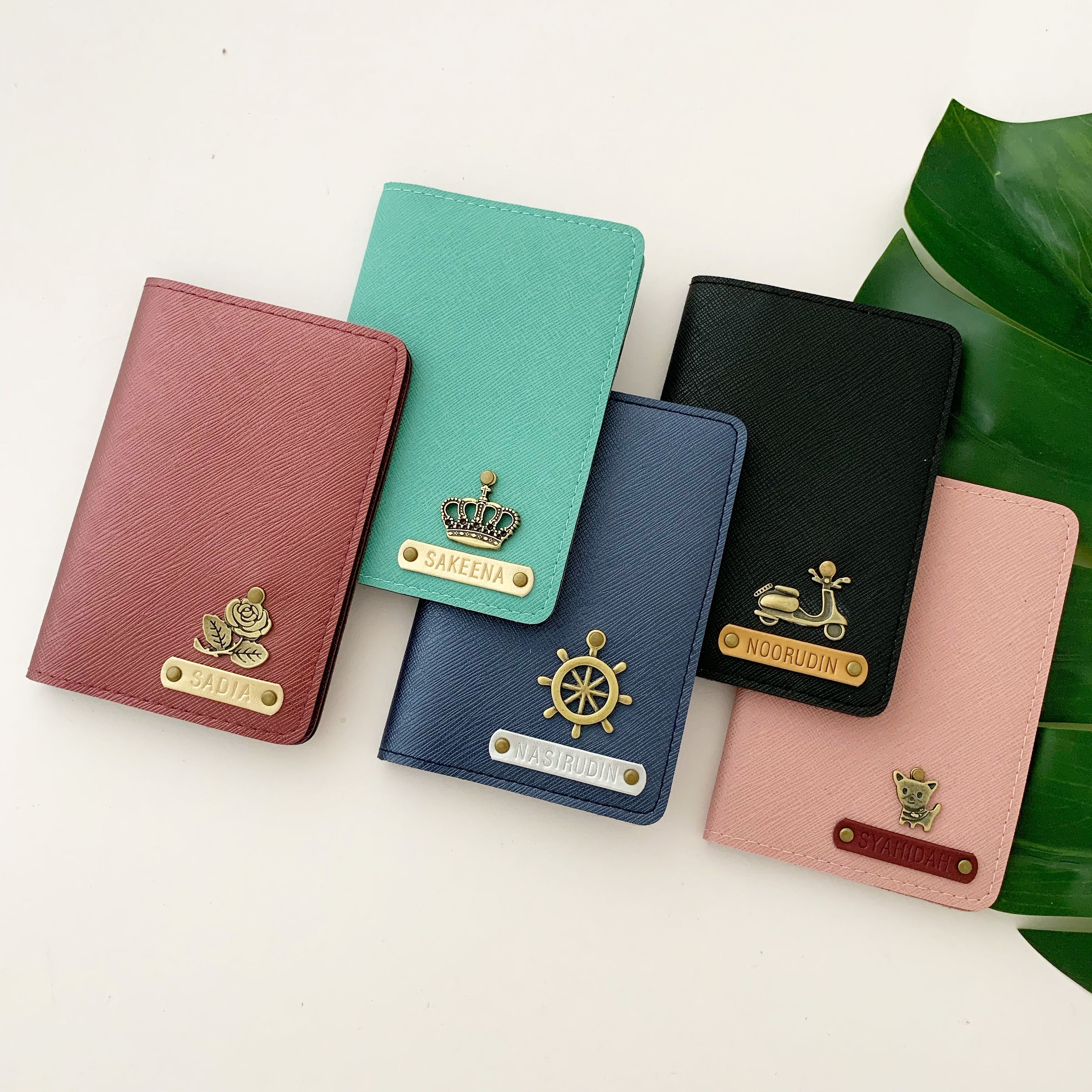 PERSONALIZED PASSPORT HOLDER COVER TRAVEL WALLET CUSTOM Name with Charm Vintage