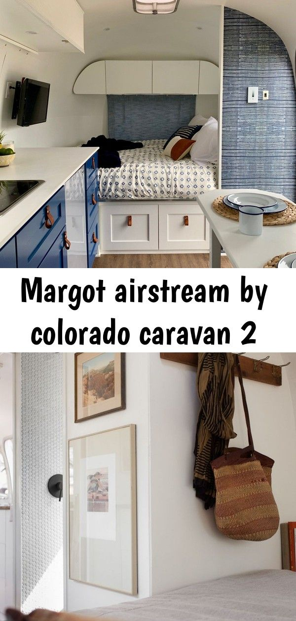 Margot airstream by colorado caravan 2 The couple designed the new layout to include a full bed, which is located on the right upon entering the trailer. Here,