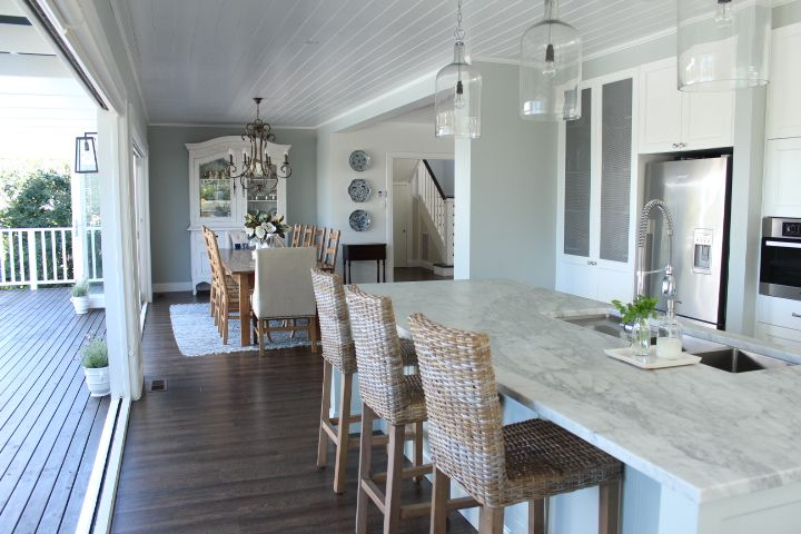 Best Marble Kitchen White Kitchen Blue And White Hamptons 640 x 480