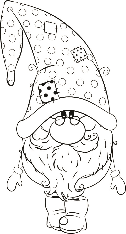 1255 04 Andre Winter Gnome Christmas Drawing Christmas Coloring Pages Gnomes Crafts