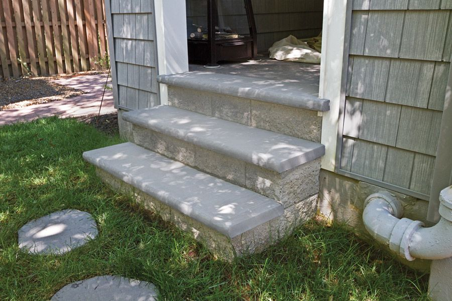 Best Devon Stone Stair Tread Cap Bluestone Outdoor Decor 400 x 300