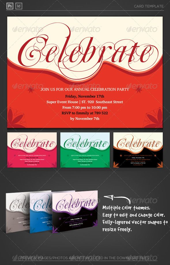 Celebrate invitation card pinterest template logo shapes and celebrate invitation card photoshop psd flyer anniversary available here httpsgraphicriveritemcelebrate invitation card5858804refpxcr stopboris Image collections