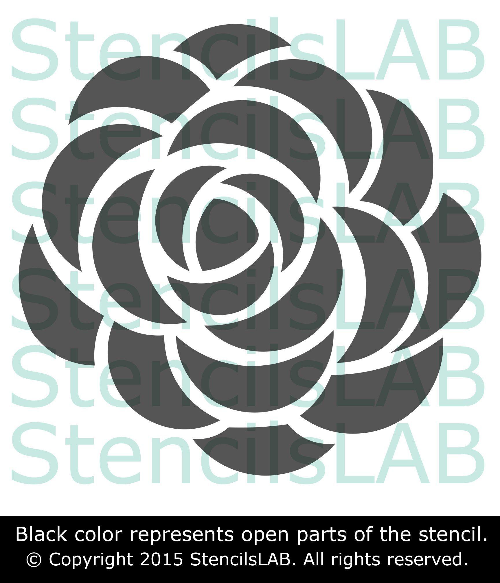 wall stencil - roses stencil for wall decor - original flower