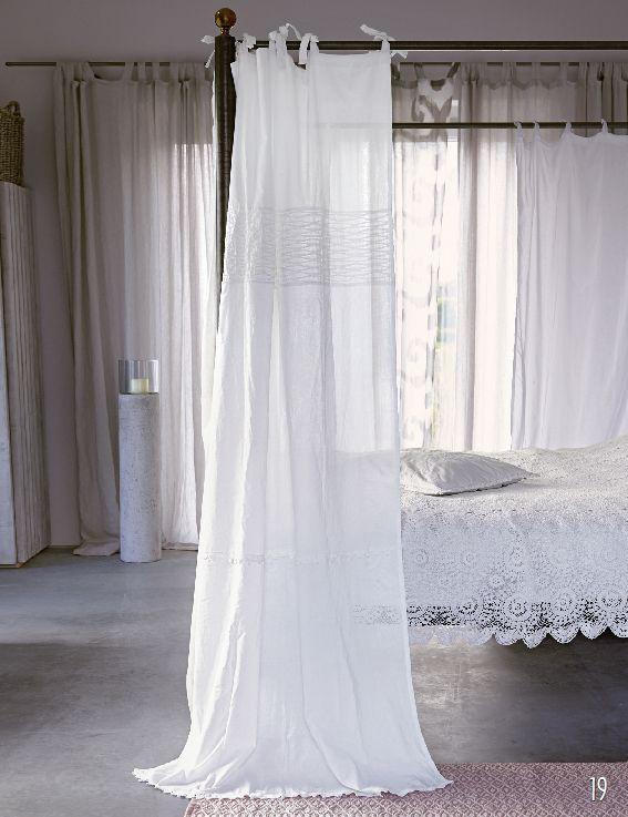 Vorhang\/ Gardine mit Nahtdrappierung von Liv Curtains - dachschrge vorhang