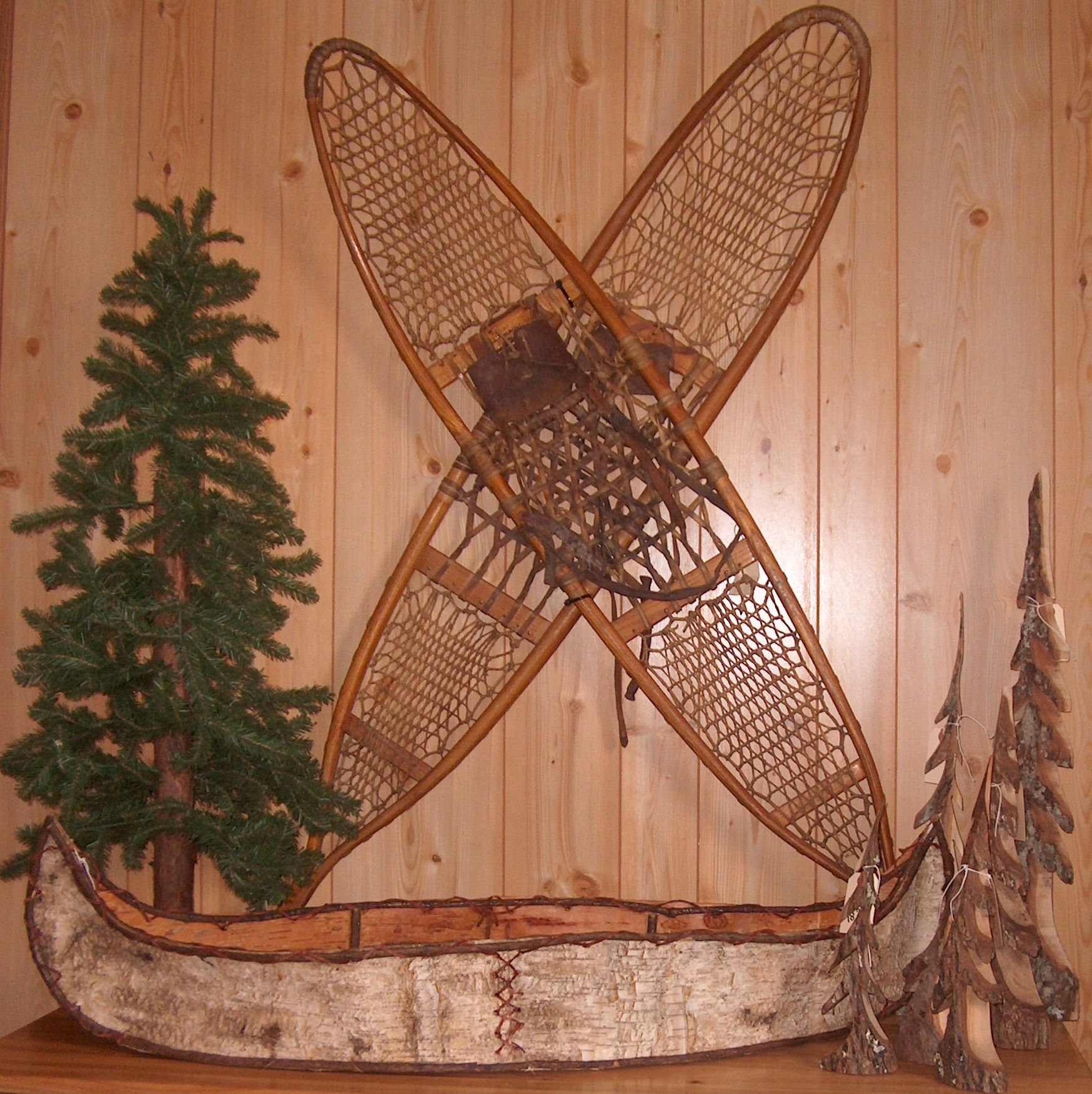 Decor To Go With Snowshoes.