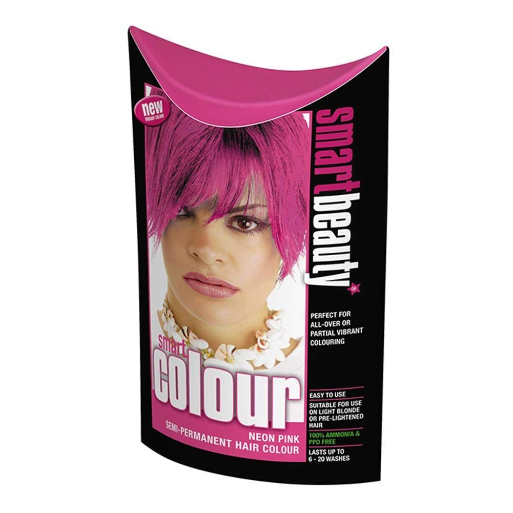Smart Colour Semipermanent Neon Pink Hair Dye x 3 * Click