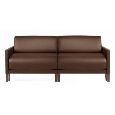 canapé lit duo vogue marron 170 cm de large ou 2 chauffeuses
