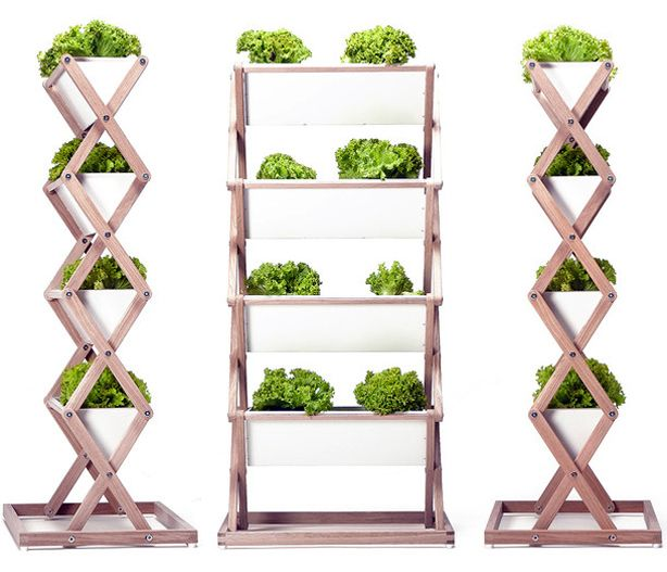 Jrg Brachmanns collapsible vertical planter is perfect for small