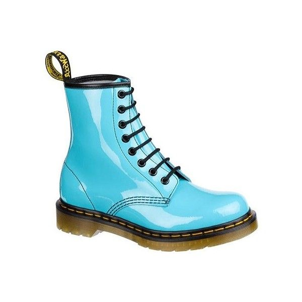 Dr Martens 1460 8 Eye Boot Patent Lamper Pastel Colors Lace Up Combat Boots Boots Blue Doc Martens
