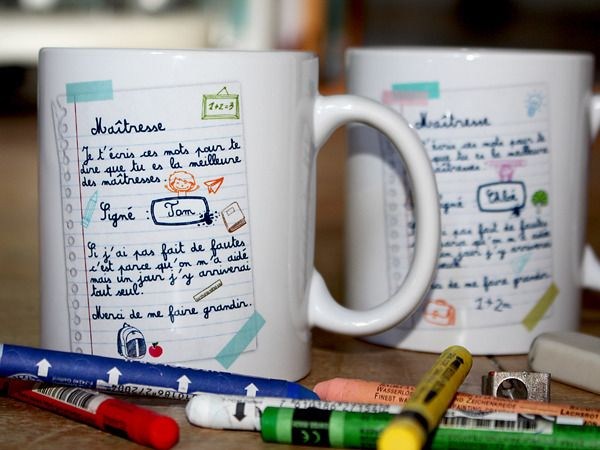"""Super Mug, tasse personnalisable """"Meilleur maître ou maîtresse"""" pour  XW71"""