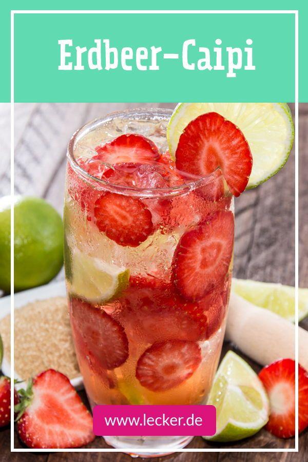 Erdbeer-Caipirinha #alcoholicpartydrinks