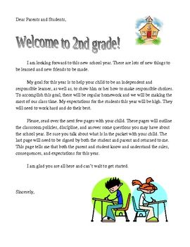 First Day of School Letter to Parents    FREE | First Day of