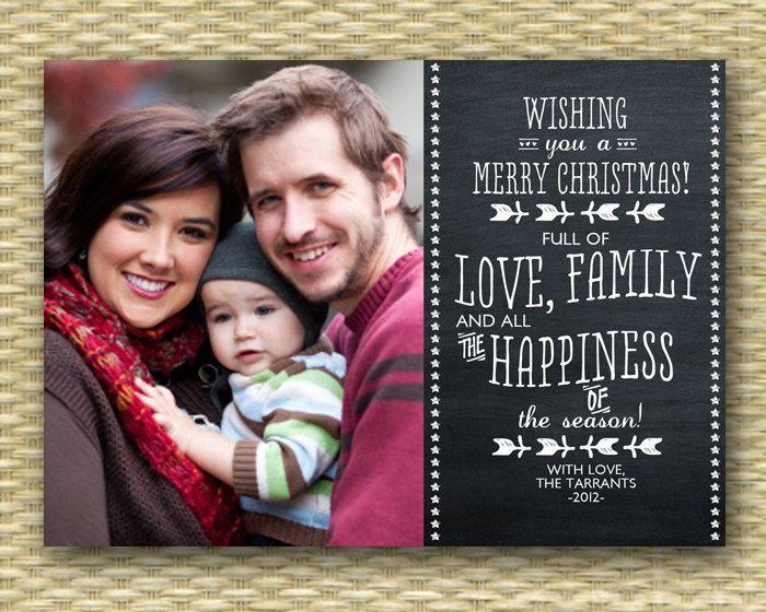 Christmas Photo Card - Customized, DIY Printable, Holiday -