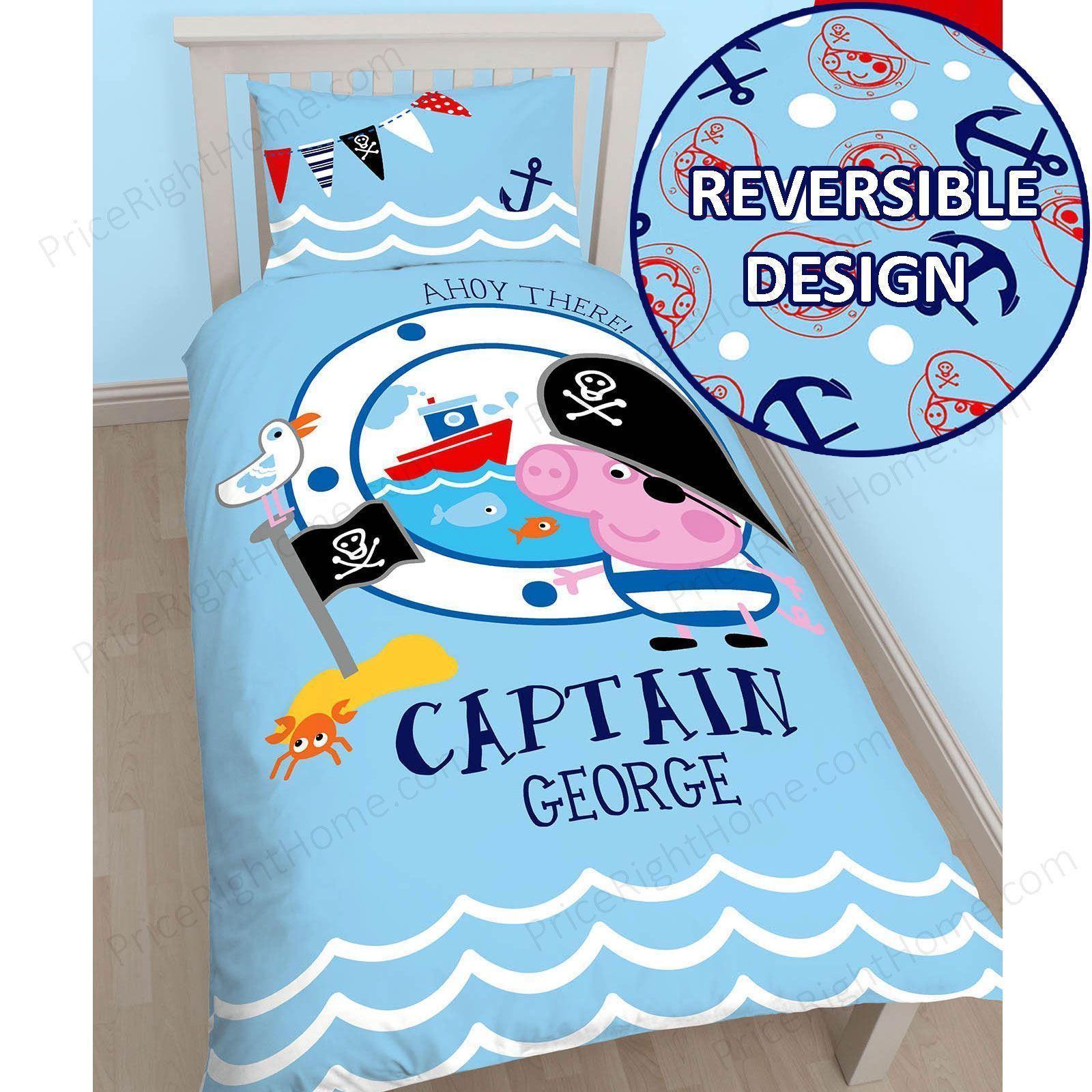 Peppa Pig Captain Pirate Single Panel Duvet Cover