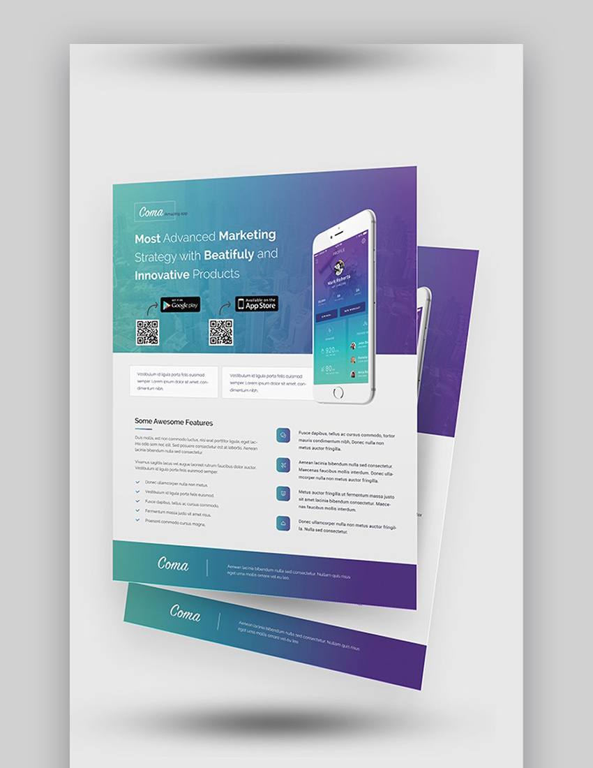 Mobile App Promotion Flyer Templates in 2020 (With images