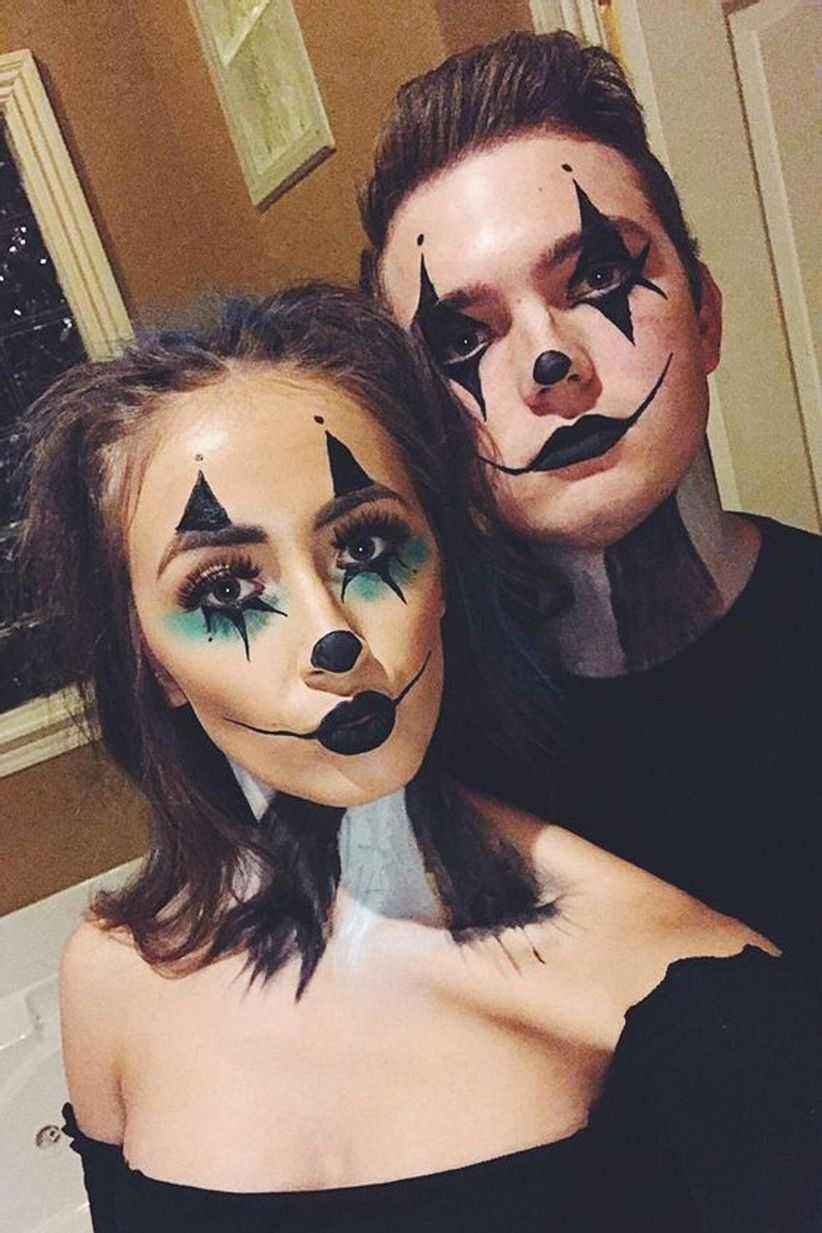 Halloween is on the horizon and we're ready for our annual free pass to buy candy in bulk. 47 Of The Best Couples Halloween Costumes For 2021 Halloween Makeup Clown Holloween Makeup Clown Makeup