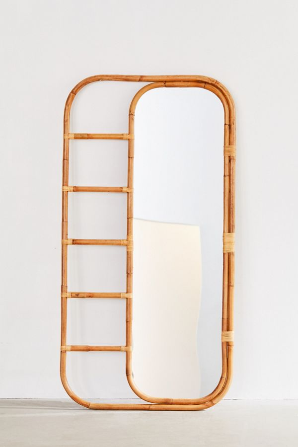Ria Leaning Rattan Mirror in 2020 (With images) Rattan