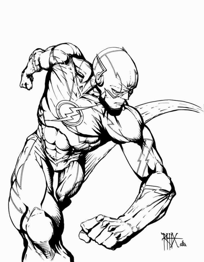 the flash comic colouring page - The Flash Coloring Pages