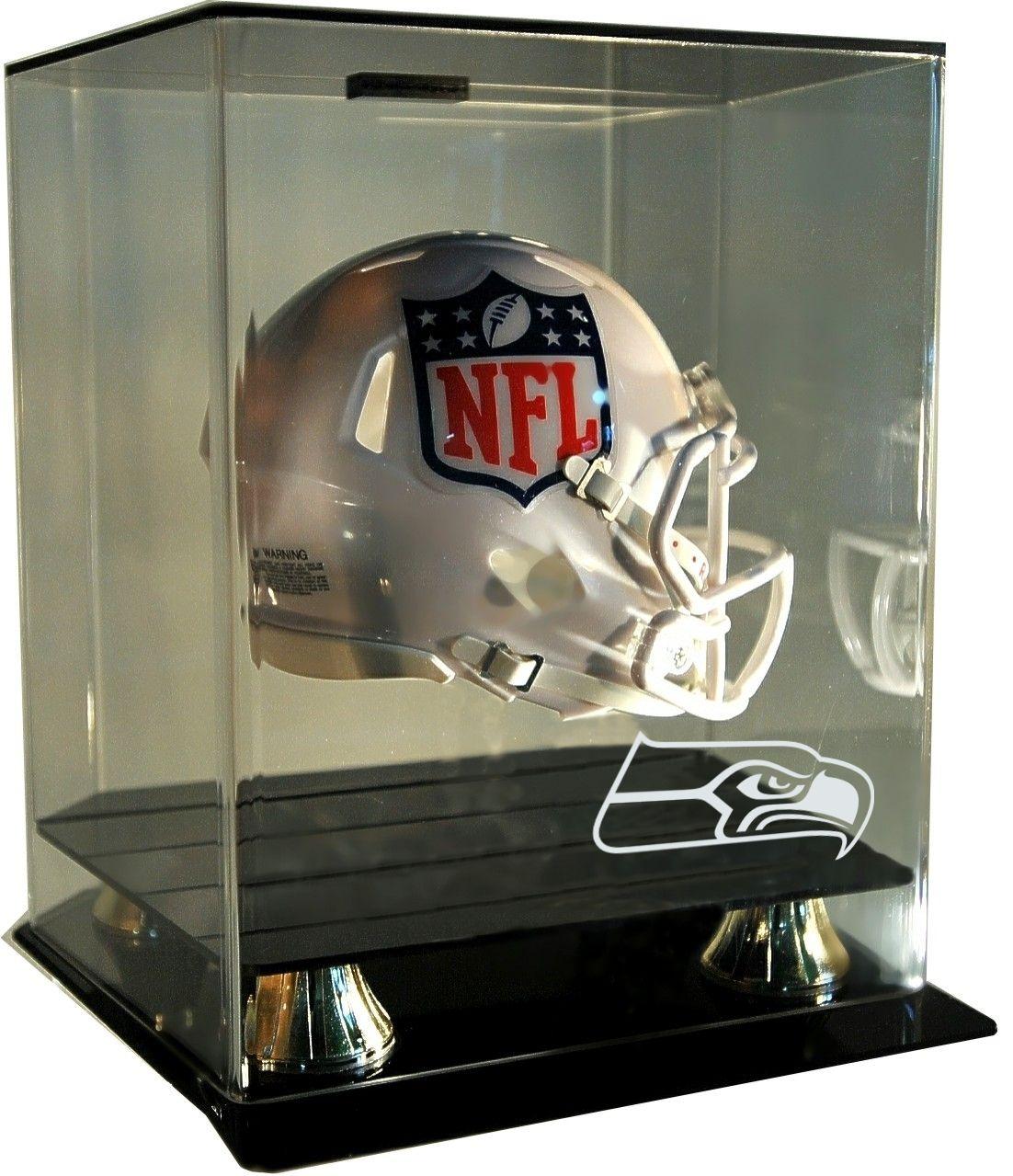 NFL Team Logo Floating Mini Helmet Display Football