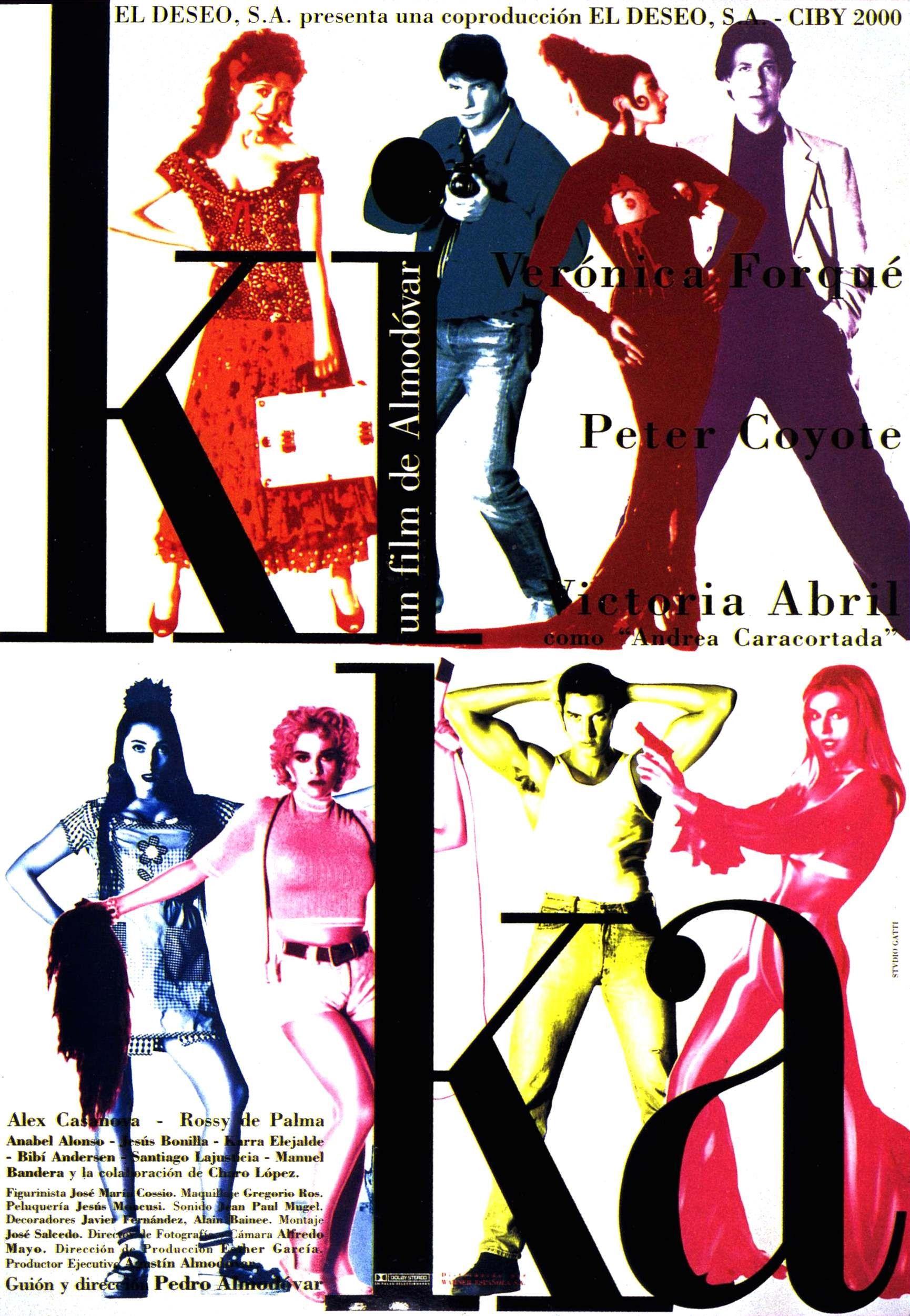 1993 Kika Pedro Almodovar Movie Posters Pedro Almodóvar Peter Coyote