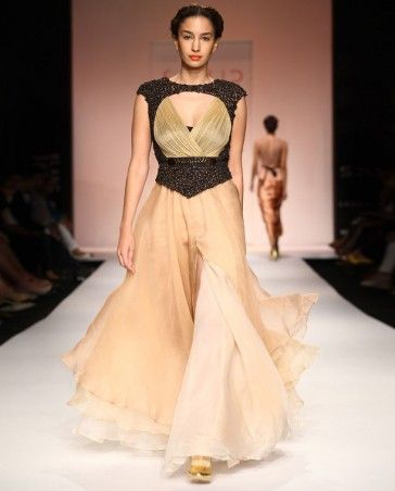 Gold Dust Flowing Gown